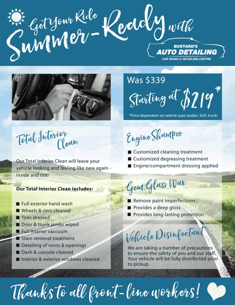 Bustard's-Auto-Detailing-2020-Summer-Detailing-Promotion